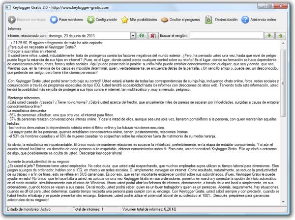 Windows 7 Keylogger Gratis 3.91 full